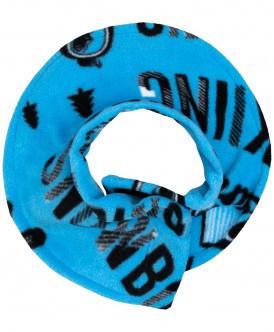 Синий флисовый воротник