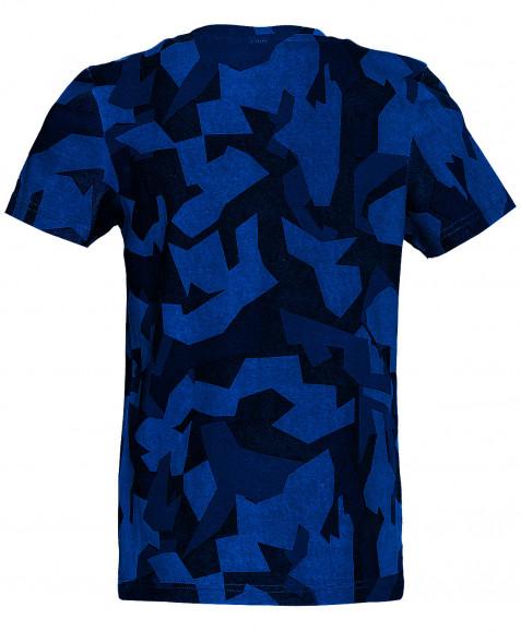 Синяя футболка с принтом
