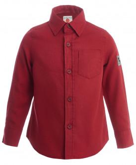 рубашка button blue для мальчика, красная
