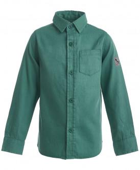 рубашка button blue для мальчика, зеленая