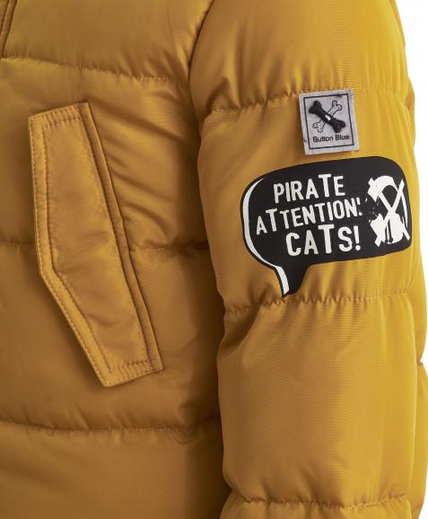 Зимняя куртка горчичного цвета