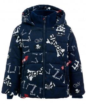 Синяя зимняя куртка с орнаментом 219BBBC41041021 фото