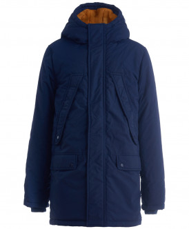 Синее демисезонное пальто 219BBBC45011000 фото