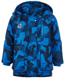 Синее демисезонное пальто
