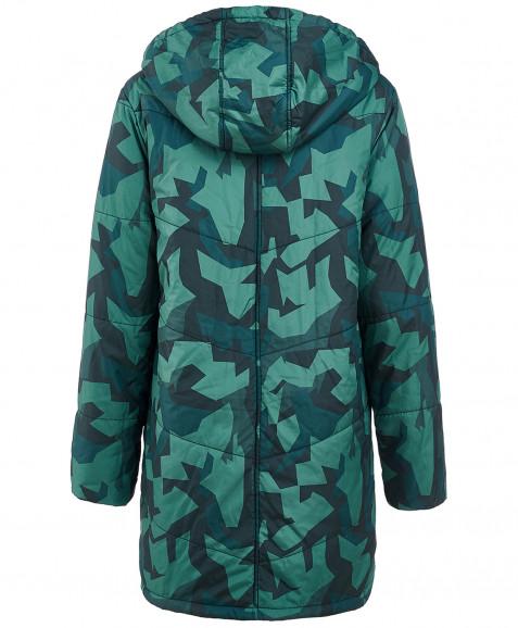 Зеленое демисезонное пальто