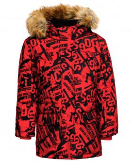 пальто button blue для мальчика, красное