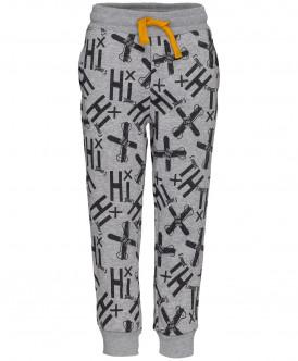 Серые брюки с орнаментом