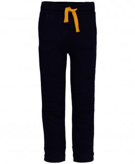Синие меланжевые брюки