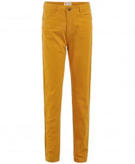 Твиловые брюки горчичного цвета