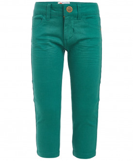 Зеленые твиловые брюки