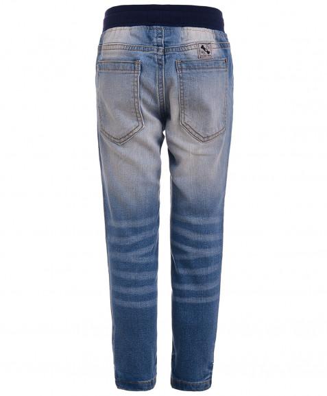 Голубые прямые джинсы