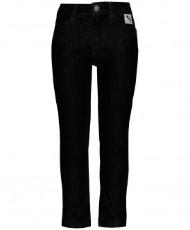 Серые прямые джинсы