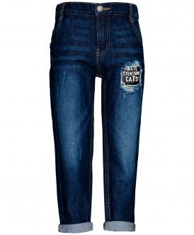 Темно-синие прямые джинсы