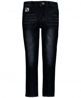 Черные утепленные джинсы