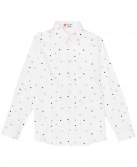 Белая рубашка со звездами