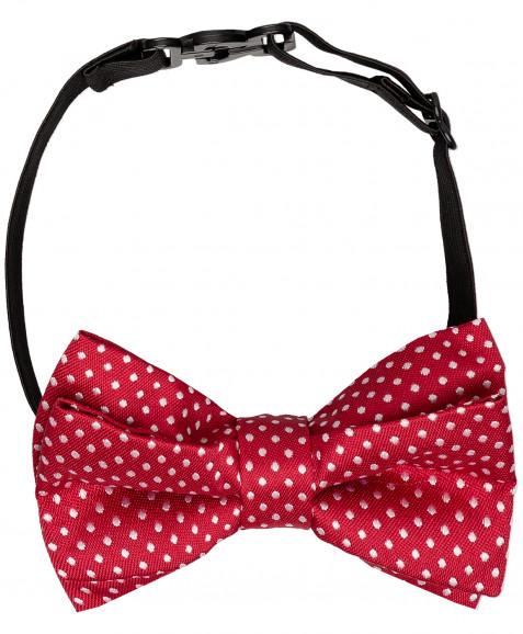Красный галстук-бабочка с орнаментом