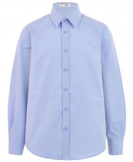 Голубая фактурная рубашка