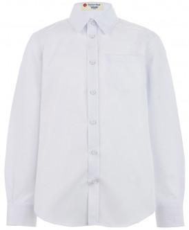 Белая фактурная рубашка 219BBBS23020200 фото