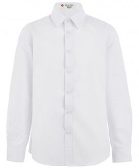 Белая фактурная рубашка 219BBBS23030200 фото