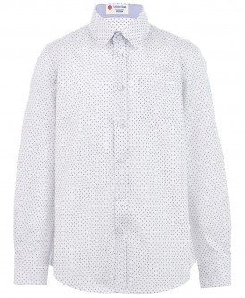 """Белая рубашка с орнаментом """"Капелька"""""""