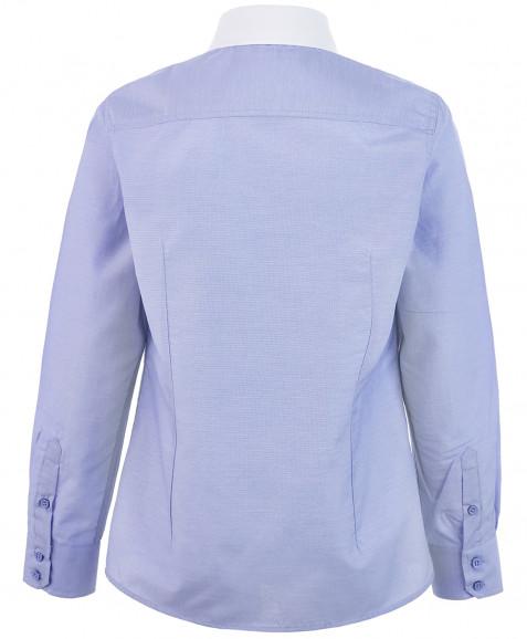 Голубая рубашка с белым воротничком