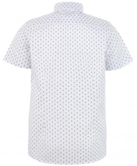 """Белая рубашка с орнаментом """"Якоря"""""""