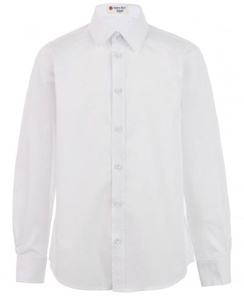 Белая приталенная рубашка