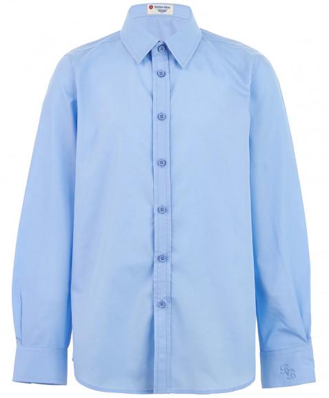 Голубая приталенная рубашка
