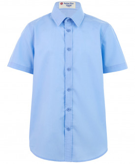 Голубая приталенная рубашка 219BBBS23091800 фото