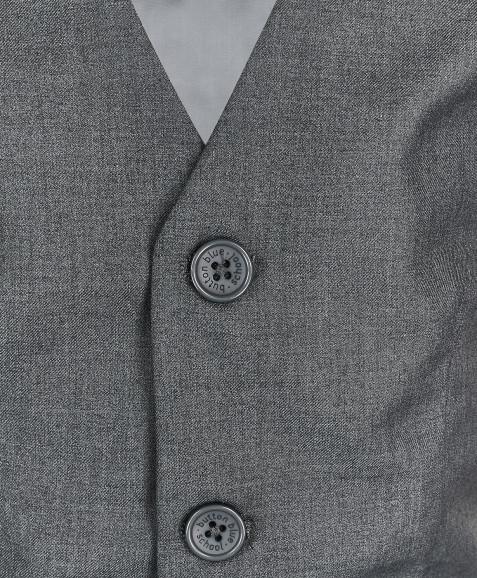 Серый классический жилет
