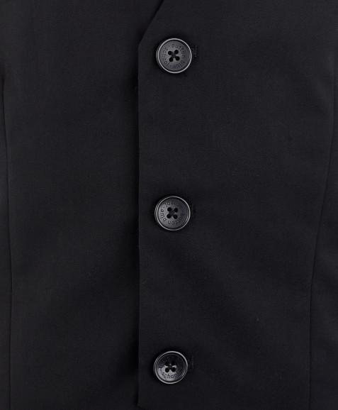Черный классический жилет