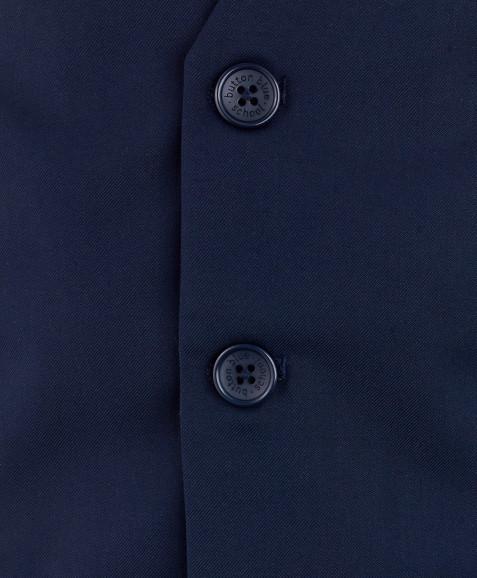 Синий классический жилет