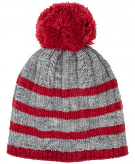 Вязаная шапка на подкладке