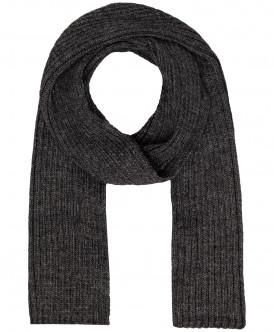 Темно-серый вязаный шарф Button Blue