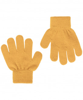 Вязаные перчатки горчичного цвета