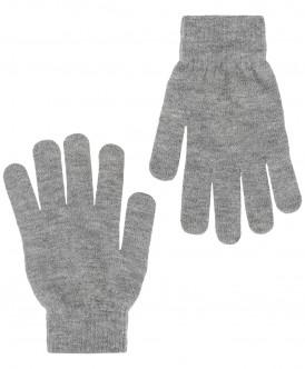 Серые вязаные перчатки Button Blue