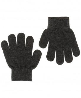 Темно-серые вязаные перчатки