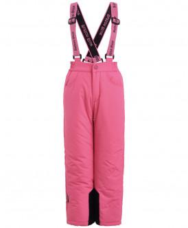 Розовые утепленные зимние брюки
