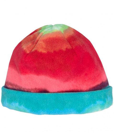 Салатовая флисовая шапка