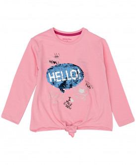 Розовая футболка с пайетками