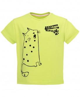 Салатовая футболка с принтом