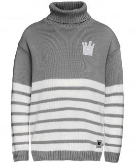 Серый свитер в полоску 219BBGC33011900 фото