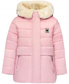 Розовая зимняя куртка