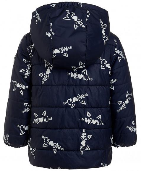 Синяя демисезонная куртка с орнаментом