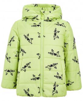 Салатовая демисезонная куртка с орнаментом