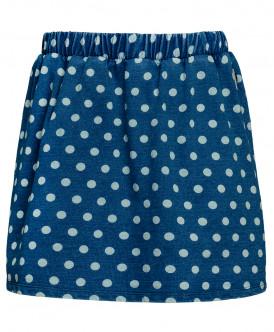 Синяя юбка в горошек