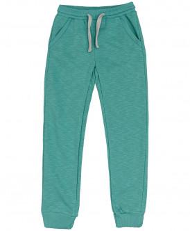 Бирюзовые меланжевые брюки