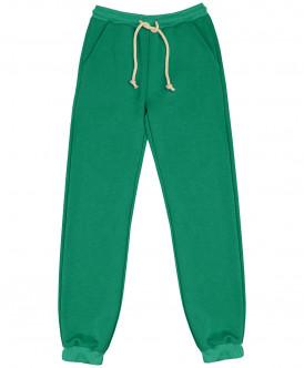 Зеленые брюки из футера
