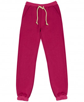 Розовые брюки из футера