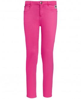 Розовые твиловые брюки